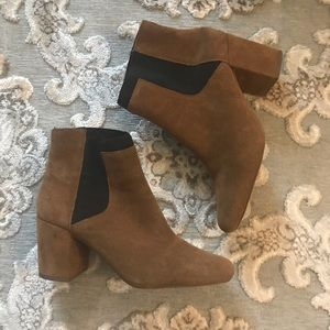 Zara brown suede booties